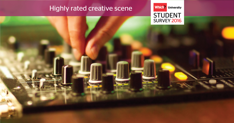 Which? University Student Survey 2016 Creative scene