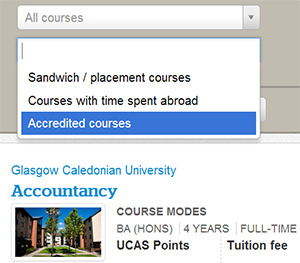 Search for accredited courses on Which? University