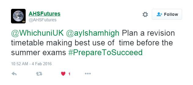 Tweet from @AHSFutures