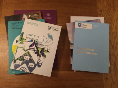 You will come away with lots of university prospectuses - take a bag!