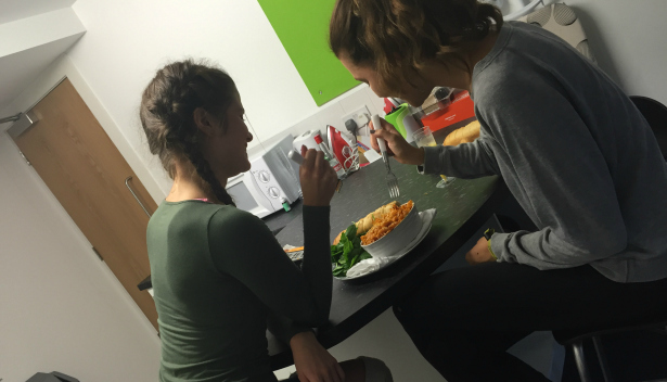 Chloe freshers' week diary - first homemade meal