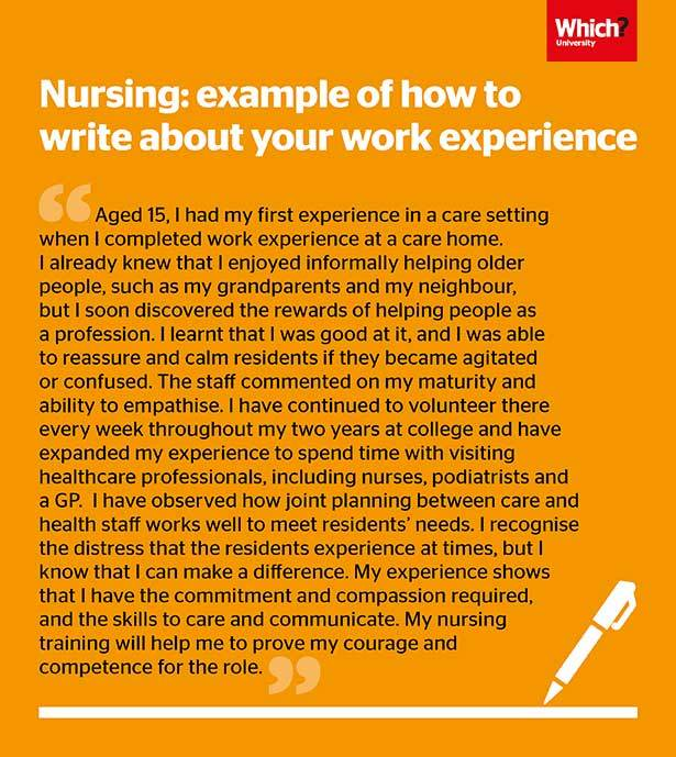 Personal statement advice and example: nursing - Which?