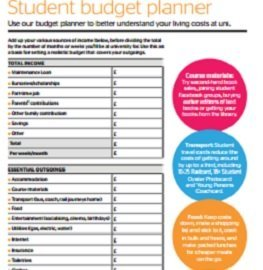Student budget planner