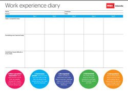 Print out: Work experience diary