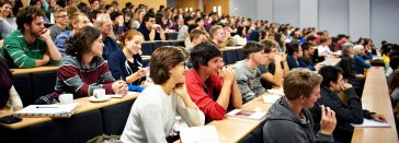 Students enjoying a guest lecture