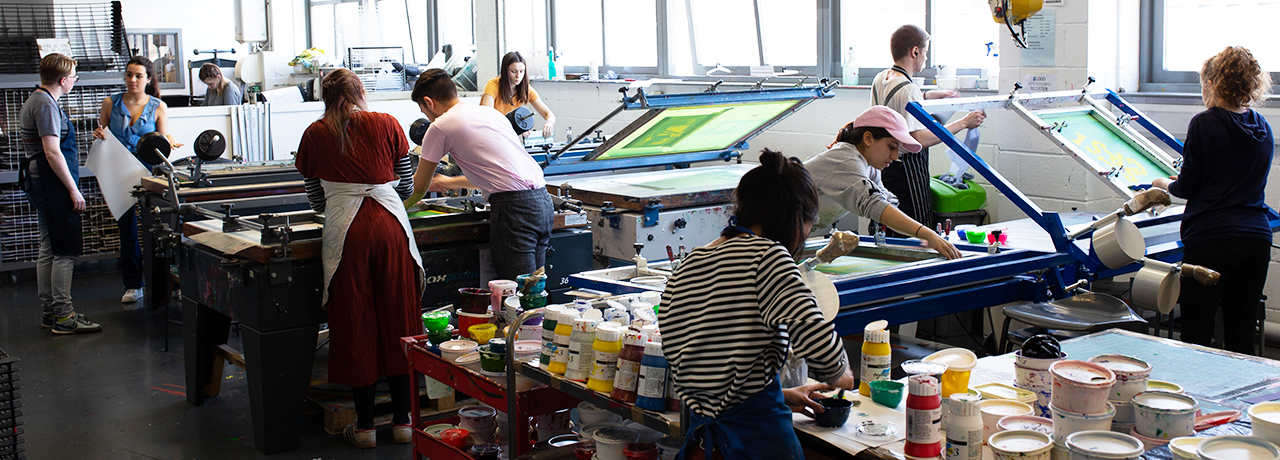 Printmaking workshops, Leeds Arts University