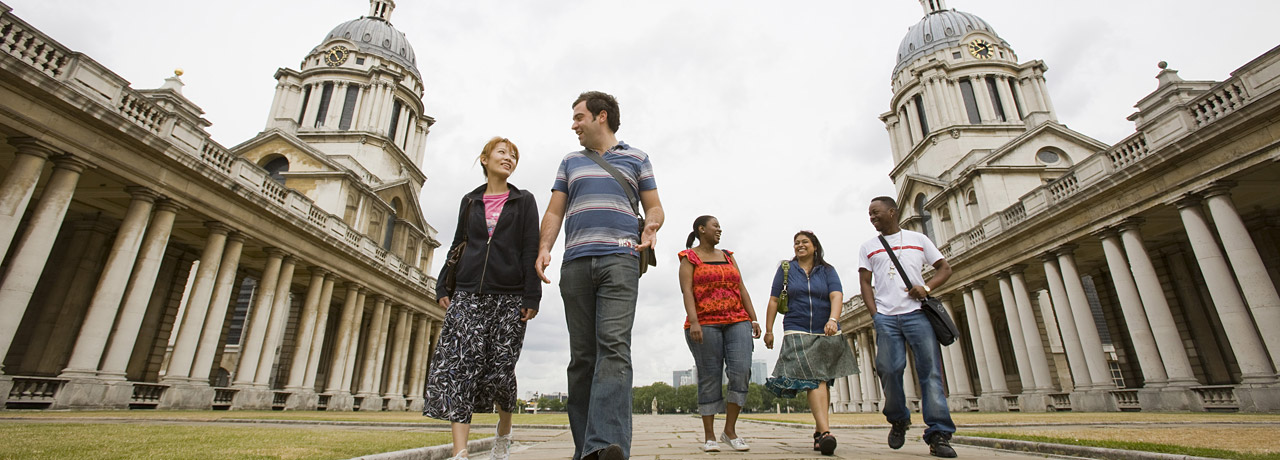 Students on Greenwich campus