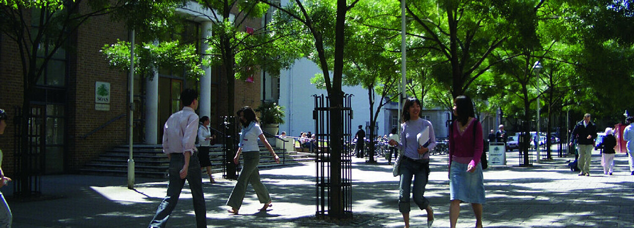 Students outside campus
