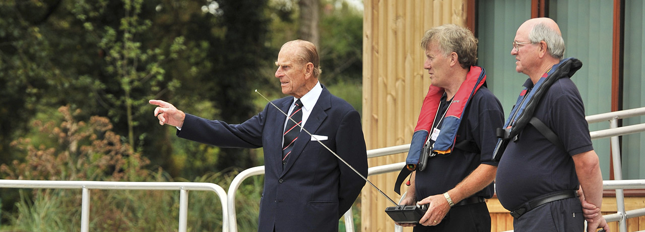 Prince Phillip at New Manned Model Lake