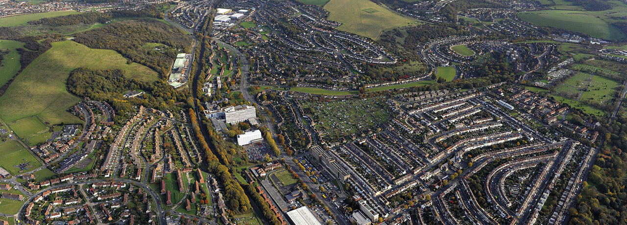Ariel view of Moulsecoomb