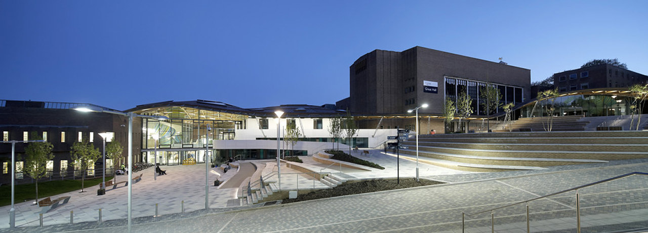 Streatham Campus by night